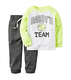 Carter's® Boys' 2T-4T 2-Piece Daddy's Team Joggers Set