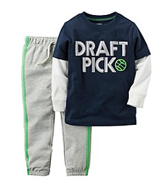 Carter's® Boys' 2T-4T 2-Piece Draft Pick Joggers Set
