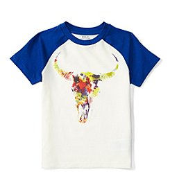 Polo Ralph Lauren® Boys' 2T-7 Short Sleeve Abstract Steer Baseball Tee