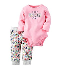 Carter's® Baby Girls' 2-Piece Best Sister Bodysuit And Floral Joggers Set