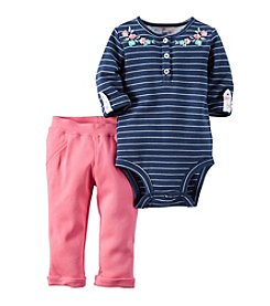 Carter's® Baby Girls' 2-Piece Striped Bodysuit And Pants Set