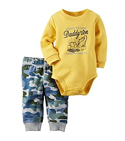 Carter's® Baby Boys 2-Piece Construction Bodysuit And Camo Pants Set
