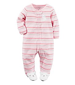 Carter's® Baby Girls' Striped Bear Footie