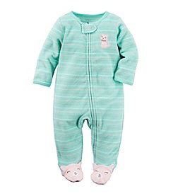 Carter's® Baby Girls' Striped Kitty Footie