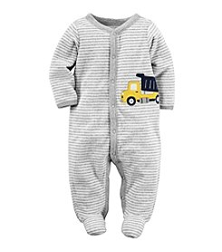 Carter's® Baby Boys Striped Truck Footie