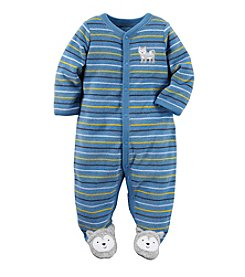 Carter's® Baby Boys Striped Husky Footie