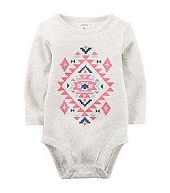 Carter's® Baby Girls' Long Sleeve Geo Bodysuit