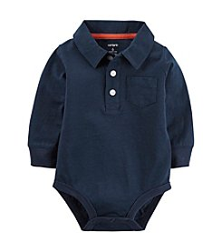 Carter's® Baby Boys Long Sleeve Polo Bodysuit