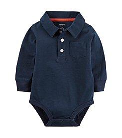 Carter's® Baby Boys Long Sleeve Polo Bodysuit