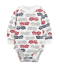 Carter's® Baby Boys Long Sleeve Firetruck Bodysuit