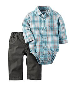 Carter's® Baby Boys 2-Piece Plaid Bodysuit And Pants Set
