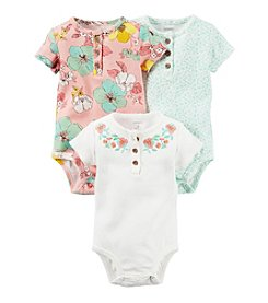 Carter's® Baby Girls' 3-Pack Assorted Short Sleeve Bodysuits