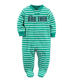 Carter's® Baby Boys Striped Little Brother Footie