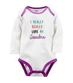Carter's® Baby Girls' Long Sleeve Love Grandma Bodysuit