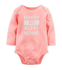 Carter's® Baby Girls' Long Sleeve Happy Mommy Bodysuit