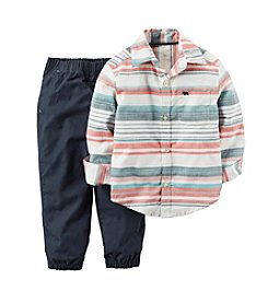 Carter's® Baby Boys 2-Piece Striped Shirt And Joggers Set