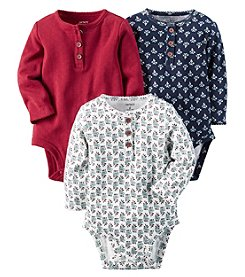 Carter's® Baby Girls' 3-Pack Assorted Floral Bodysuits