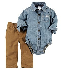 Carter's® Baby Boys Denim Bodysuit And Pants Set