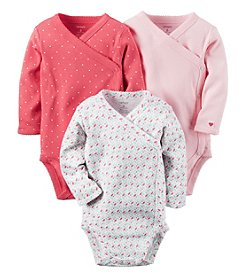 Carter's® Baby Girls' 3-Pack Geo Side Snap Bodysuits