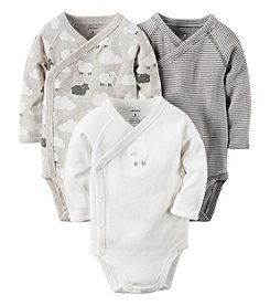Carter's® Baby 3-Pack Sheep Side Snap Bodysuits