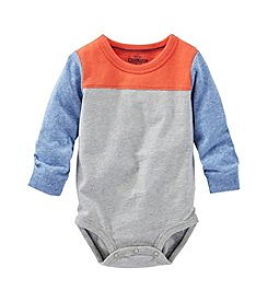 OshKosh B'Gosh® Baby Boys Long Sleeve Colorblock Bodysuit
