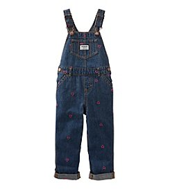 OshKosh B'Gosh® Baby Girls' Heart Schiffli Overalls