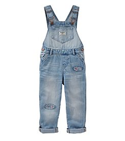 OshKosh B'Gosh® Baby Girls' Patched Overalls
