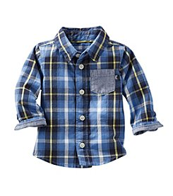 OshKosh B'Gosh® Baby Boys Long Sleeve Plaid Button Down Shirt