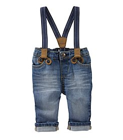 OshKosh B'Gosh® Baby Boys Denim Pants With Suspenders