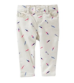 OshKosh B'Gosh® Baby Girls' Feather Printed Twill Pants
