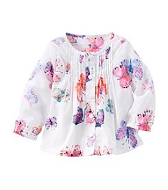 OshKosh B'Gosh® Baby Girls' Long Sleeve Watercolor Butterfly Top