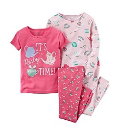 Carter's® Girls' 12M-12 4-Piece It's Party Time Pajama Set