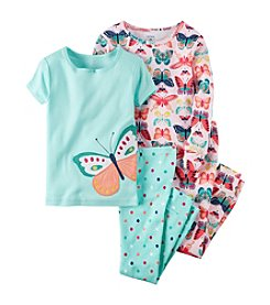 Carter's® Girls' 12M-12 4-Piece Butterfly Pajama Set