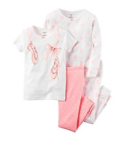 Carter's® Girls' 12M-12 4-Piece Ballet Slippers Pajama Set