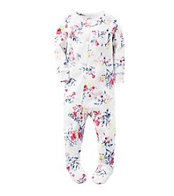 Carter's® Girls' One Piece Floral Sleeper