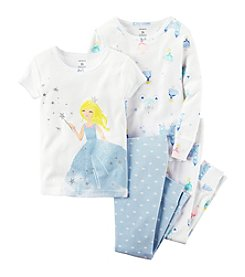 Carter's® Girls' 12M-12 4-Piece Fairy Princess Pajama Set