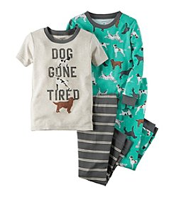 Carter's® Boys' 12M-12 4-Piece Dog Gone Tired Pajama Set