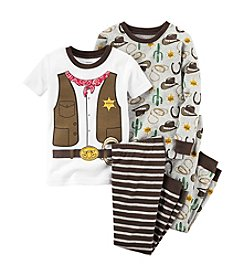 Carter's® Boys' 12M-12 4-Piece Sheriff Pajama Set