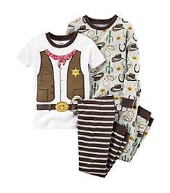 Carter's® Boys' 12M-12 4-Piece Cotton Sheriff Pajama Set