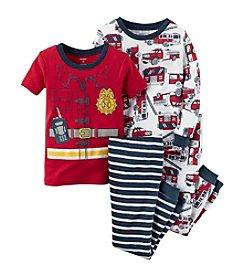 Carter's® Boys' 12M-12 4-Piece Cotton Fireman Pajama Set