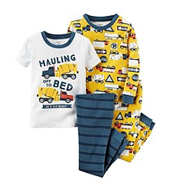 Carter's® Boys' 12M-12 4-Piece Cotton Construction Pajama Set