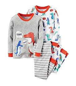 Carter's® Boys' 12M-12 4-Piece Sleepy Dinosaur Pajama Set