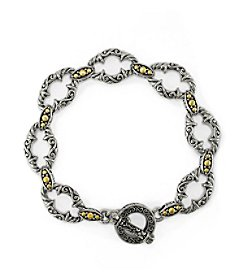 Effy® 925 Collection Sterling Silver and 18k Yellow Gold Toggle Bracelet