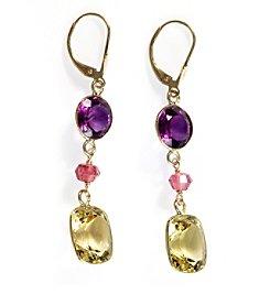 Effy® Multi Gemstone Drop Earrings in 14k Yellow Gold