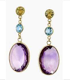 Effy® Multi Gemstone Drop Earrings in 14K Yellow Gold