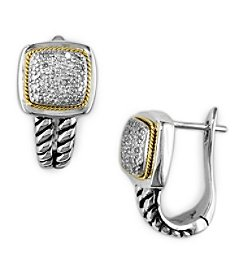 Effy® 925 Collection 0.22 ct. tw. Diamond Earrings in Sterling Silver