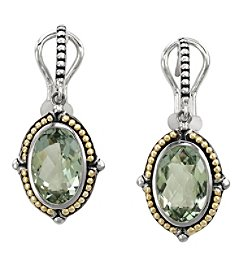 Effy® 925 Collection Green Amethyst Earrings in Sterling Silver