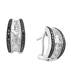 Effy® 925 Collection 0.38 ct. tw. Black Diamond Earrings in Sterling Silver
