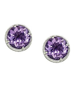 Effy® 925 Collection Amethyst Earrings in Sterling Silver