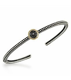 Effy® 925 Collection 0.14 ct. tw. Black Diamond Bangle in Sterling Silver